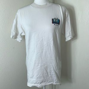 Vintage Embroidered Maui Off-White T-Shirt